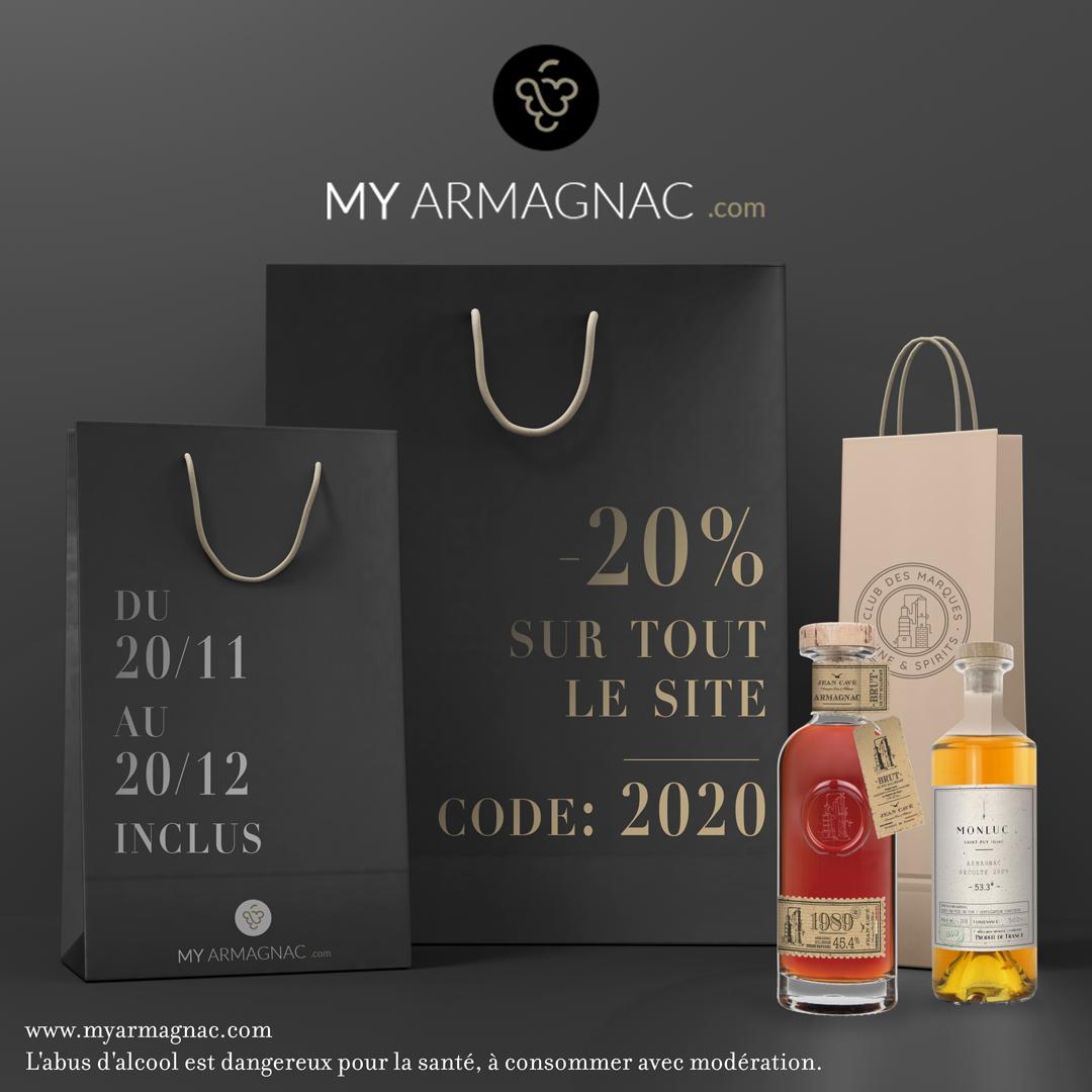 Code promo MyArmagnac 2020 - 20 %
